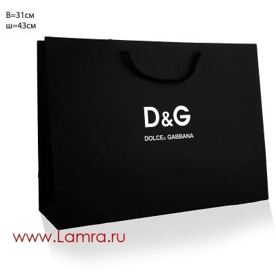 """ПАКЕТ ПОДАРОЧНЫЙ """"D&G"""" 43*34*14СМ"""