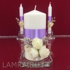 """Свечи для семейного очага на свадьбу """"Чароит"""""""