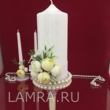 """Свадебные свечи Семейный очаг """"Белый пион"""""""