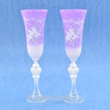 Бокалы с рисунком фиолетовые bok170