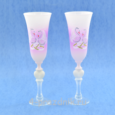 Бокалы с рисунком розово-белые bok171