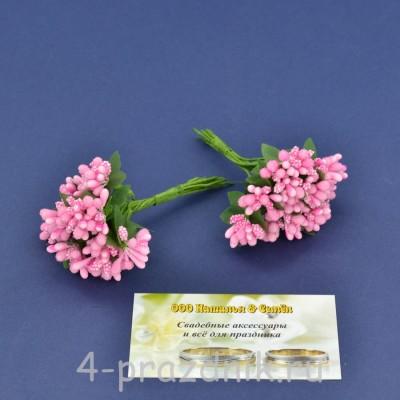 Мини букетик розовый mibuk004 оптом