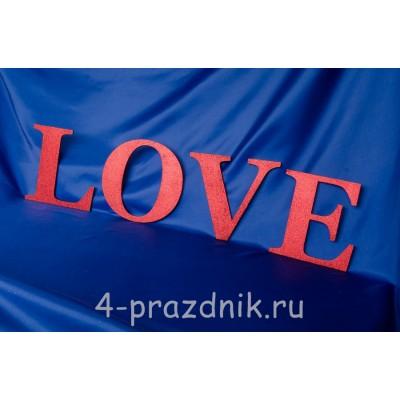 Деревянные буквы LOVE красные 1947-kr оптом