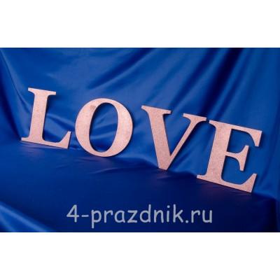 Деревянные буквы LOVE розовые 1947-roz оптом