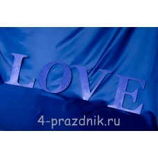 Деревянные буквы LOVE синие 1947-sin