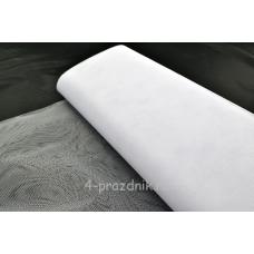 Фатин в рулоне-сетка белый