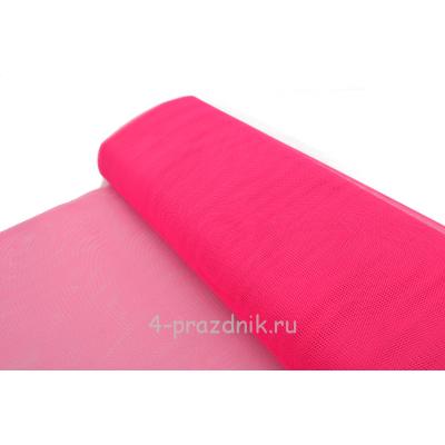 Фатин свадебный в рулоне-сетка ярко-розовый