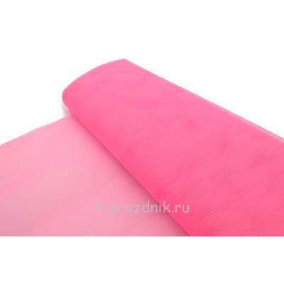 Фатин свадебный в рулоне-сетка розовый