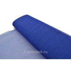Фатин в рулоне-сетка синий