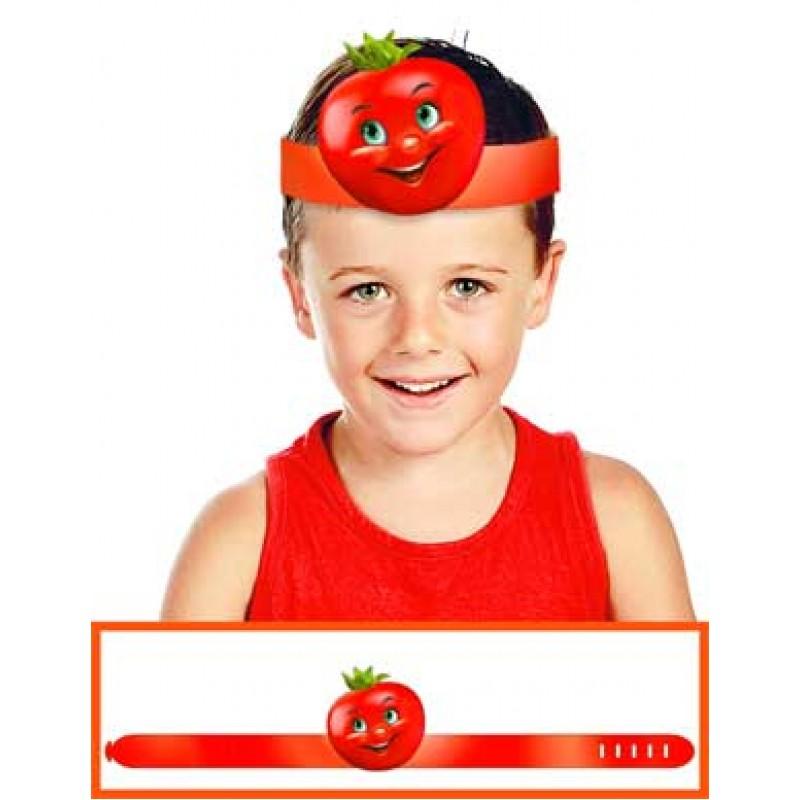 Маска на голову помидор из бумаги для утренника картинки