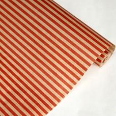 Бумага крафт цветочная Полосы Красные 70см*10м. 40 г/м2   22шт/уп  79367