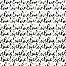 "Бумага 1*70  Дизайнерская бумага  ""Черная Любовь""  78г/м2   10шт/уп  79362"