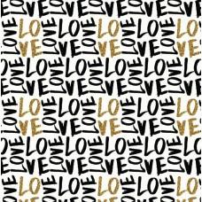 """Бумага 1*70  Дизайнерская бумага  """"Черно-Золотая Любовь""""  78г/м2   10шт/уп  79363"""