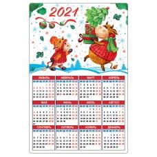 """2021 Календарь магнитный """"Б/Н"""""""