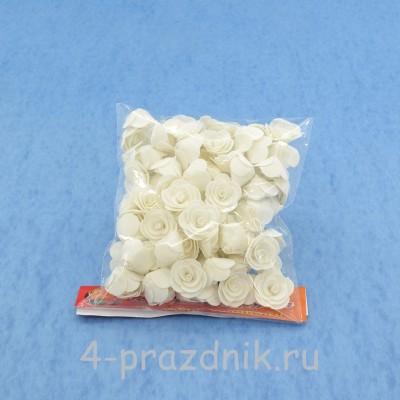 Цветы латексные белые, размер №1 latex001 оптом