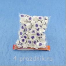 Цветы латексные размер №1, бело-фиолетовые latex002