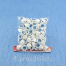 Цветы латексные размер №1, бело-голубые latex003