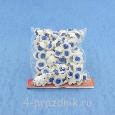 Цветы латексные размер №1, бело-синие latex004 оптом