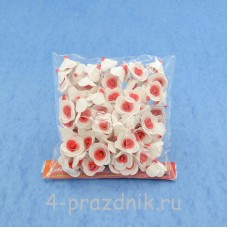 Цветы латексные размер №1, бело-красные latex005