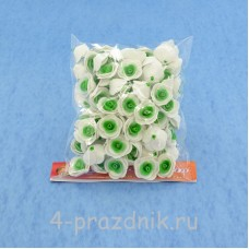 Цветы латексные размер №1, бело-зеленые latex008