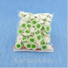 Цветы латексные размер №1, бело-светло-зеленые latex009