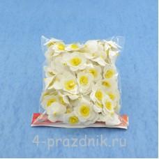 Цветы латексные размер №1, бело-желтые latex011