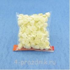 Цветы латексные размер №1, айвори latex012