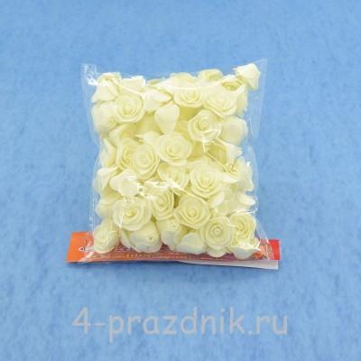 Цветы латексные размер №1, айвори latex012 оптом