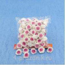 Цветы латексные размер №1, цвет: белый, фуксия latex013