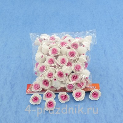 Цветы латексные размер №1, цвет: белый, фуксия latex013 оптом