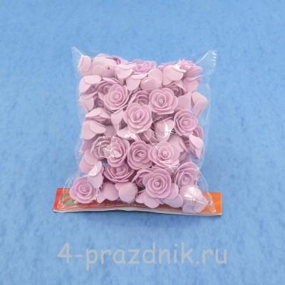 Цветы латексные размер №1, бледно-сиреневые latex017 оптом