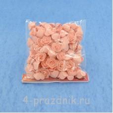 Цветы латексные размер №1, цвет: светлый персик latex019