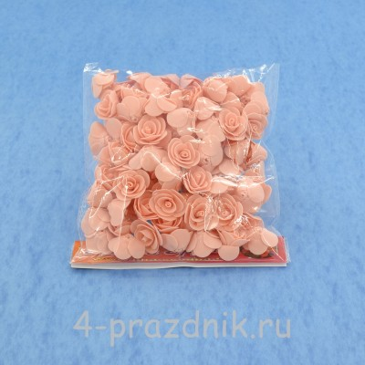 Цветы латексные размер №1, цвет: светлый персик latex019 оптом