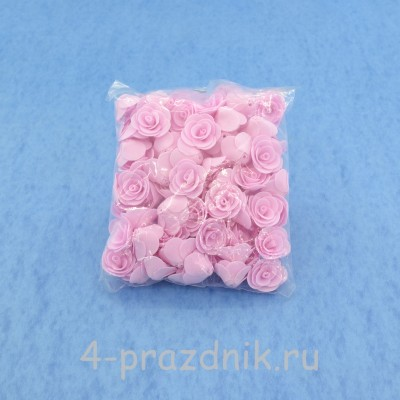 Цветы латексные размер №1, нежно розовые latex020 оптом