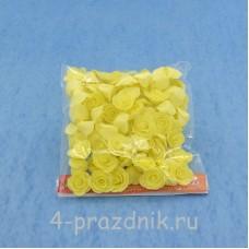 Цветы латексные размер №1, светло желтые latex022