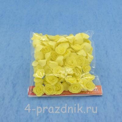 Цветы латексные размер №1, светло желтые latex022 оптом