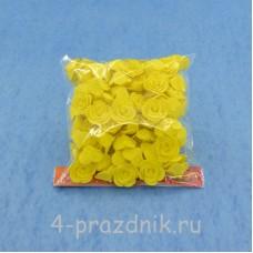 Цветы латексные размер №1, желтые latex023