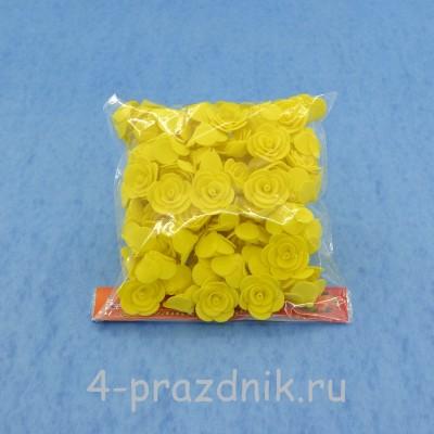 Цветы латексные размер №1, желтые latex023 оптом