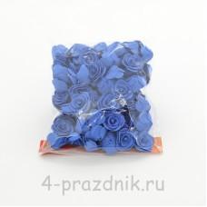 Цветы латексные размер №1, темно-синие latex024