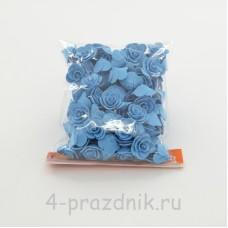 Цветы латексные размер №1, голубые latex025