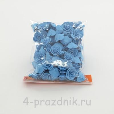 Цветы латексные размер №1, голубые latex025 оптом