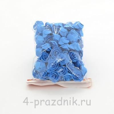 Цветы латексные размер №1, синие latex026 оптом
