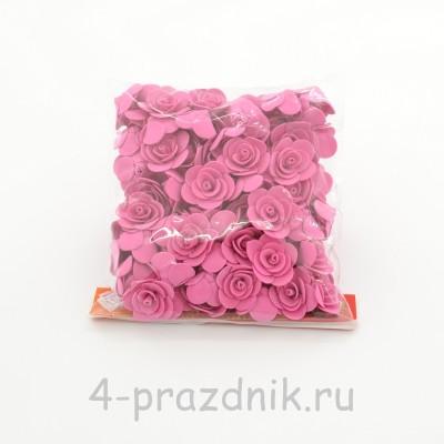 Цветы латексные размер №1, цвета фуксия latex027 оптом