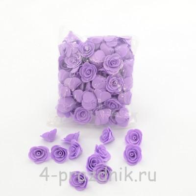 Цветы латексные размер №1, сиреневые latex028 оптом