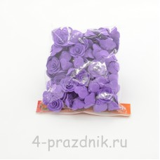 Цветы латексные размер №1, фиолетовые latex029