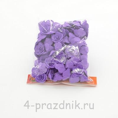Цветы латексные размер №1, фиолетовые latex029 оптом