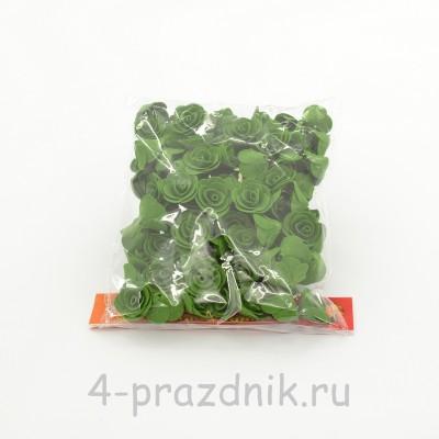 Цветы латексные размер №1, темно-зеленые latex030 оптом