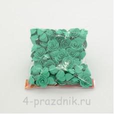 Цветы латексные размер №1, бирюзовые latex031