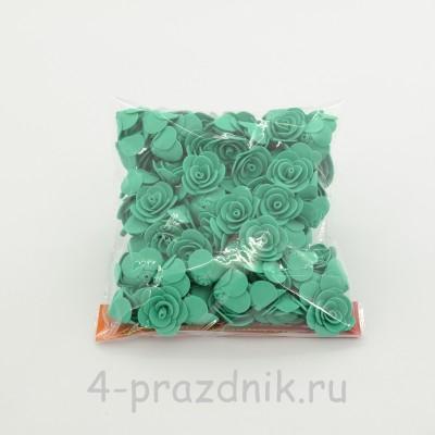 Цветы латексные размер №1, бирюзовые latex031 оптом