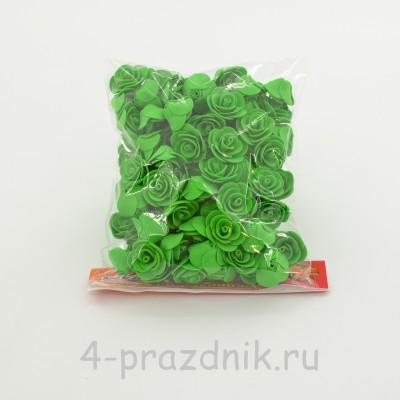 Цветы латексные размер №1, зеленые latex032 оптом